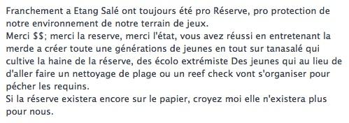 Capture d'écran faite sur un profil Facebook suite à l'attaque de novembre 2013.
